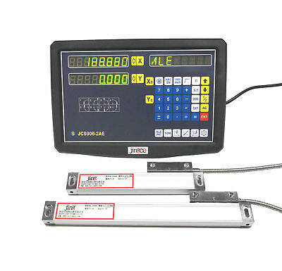 2 Axis Digital Readout DRO  for Milling Lathe Machine w/ Precision linear scale
