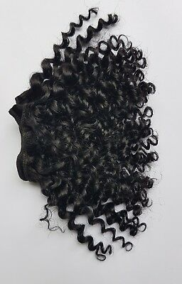 Human Hair Rooting Reborn Babies Toddlers Black Afro Curly Curls NOT Mohair