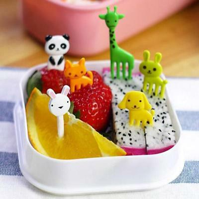 Cute Animal Food Fruit Bento Picks Forks Lunch Box Accessory Party Decor SO
