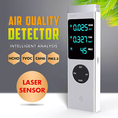 Household Indoor Air Quality laser Monitor HCHO TVOC PM2.5 PM10 Detector Tester