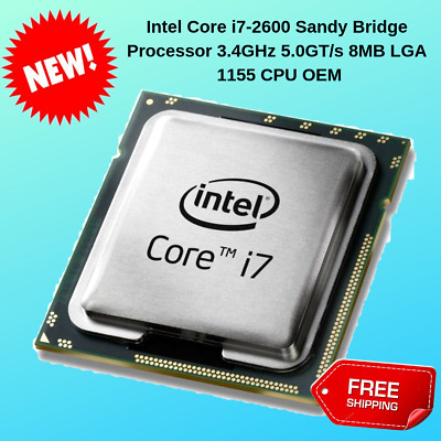 OEM Intel Core i7-2600 Sandy Bridge Processor 3.4GHz 5.0GT//s 8MB LGA 1155 CPU
