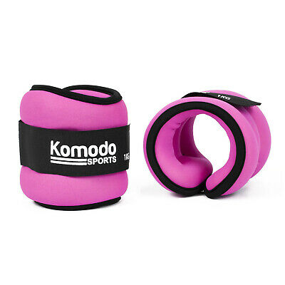 Pink Neoprene Ankle Wrist Weights Running Training Exercise Fitness Heavy Bands