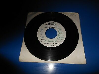 Rare Record 45 RPM 38 SPECIAL TEST PRESSING / MONARCH / DJ PROMO