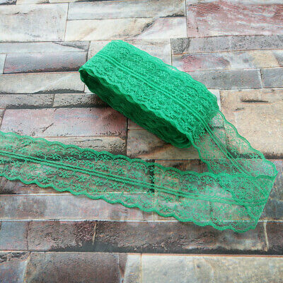 10 yards Pretty 40mm Green embroidery lace ribbon lace Bilateral DIY accessories