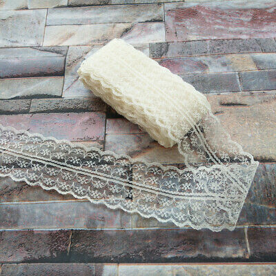 10 yards Pretty 40mm Beige embroidery lace ribbon lace Bilateral DIY accessories