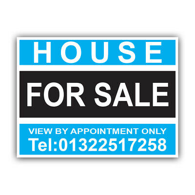 House For Sale Sign Boards Personalised Correx Estate Agent Signs x2 41
