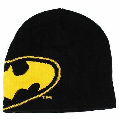 OFFICIAL DC Comics Batman Logo Symbol Knitted Beanie Hat (NEW)