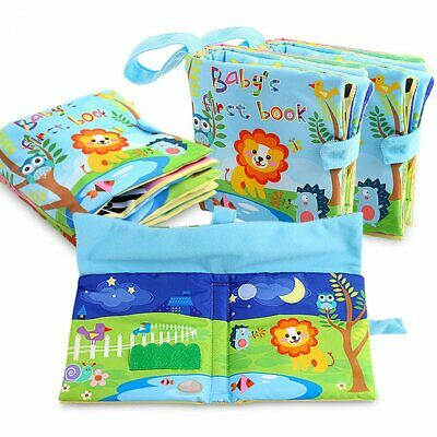 Large Baby Cloth Book Early English Self Adhesive Three-dimensional Cloth Book K