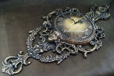 """Carved wooden wall clock """"Antique"""""""