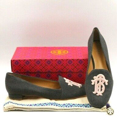 3ebee89d769 TORY BURCH Antonia Loafer Women Slip On Loafers Size 7.5M Heather Gray  Melton