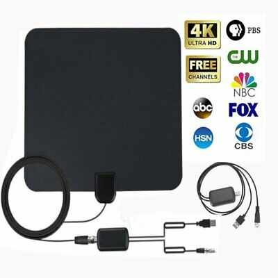 Digital 80 Miles Clear Indoor TV HDTV Antenna 4K 1080P Better Reception BP