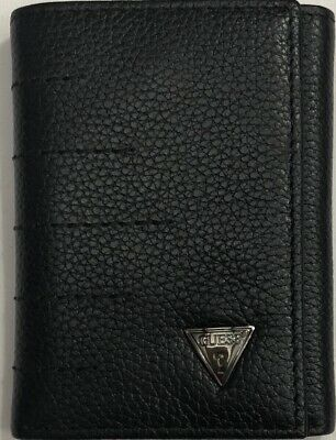 376303c09 NEW GUESS MEN'S Leather Trifold Wallet Black Color $15.75 - $15.75 ...