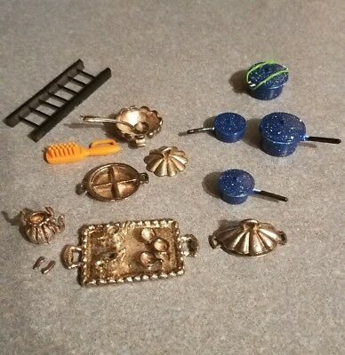 Antique Dollhouse Cookware, Serving Trays Ect