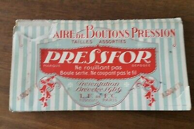 1 carnet collector boutons pression Presfor Paris  - N 16