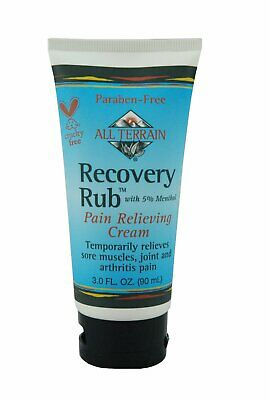 All Terrain - Recovery Rub With 5% Menthol Pain Relieving Cream - 3 Oz Pack Of 3