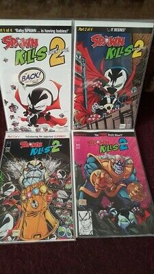 SPAWN KILLS EVERYONE 2 #1-4 -TODD McFARLANE IMAGE - FULL SET #1 2 3 4   BOARDED