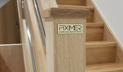 Oak Square Modern Newel Post 90 x 90 x 1500mm for £56.43 + vat FREE NEWEL CAP