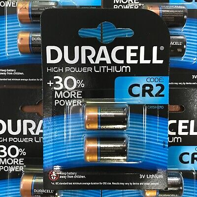 2 x Duracell CR2 3V Ultra Lithium Photo Battery DLCR2 ELCR2 CR15H270 LONGEST EXP
