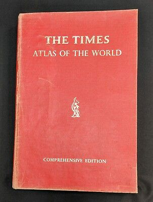 1967 THE TIMES Atlas Of The World Book Comprehensive Edition & map abbrvtns card