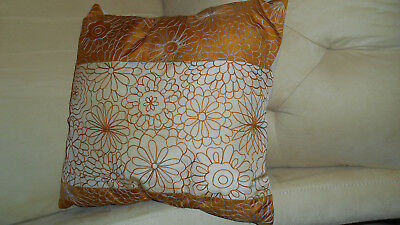 Pier 1 Throw Pillow Cushion Removable Cover 16 Square Floral