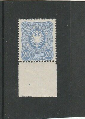 GERMANY  1880 20 pf. ultramarine Mi.42 mnh, expertised on reverse