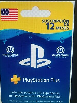 CHOLLAZO !! PLAYSTATION PLUS  365 Días PSN PS4 Vita 12 Meses- USA  (CODIGO)