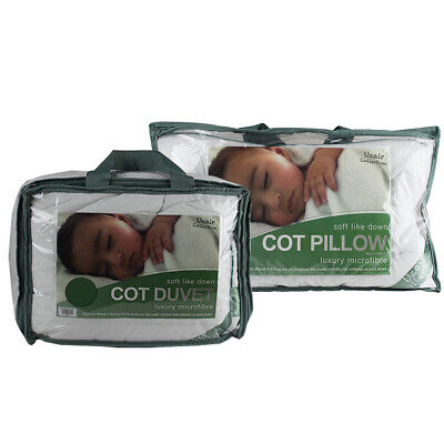 Microfibre 9 Tog Cot Duvet And Pillow Anti Allergy Baby Toddler SOFT LIKE DOWN