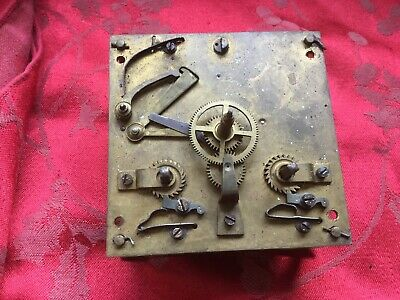 French  Regulator Type Clock  Movement Outside Countwheel Square Plates 4 3/4