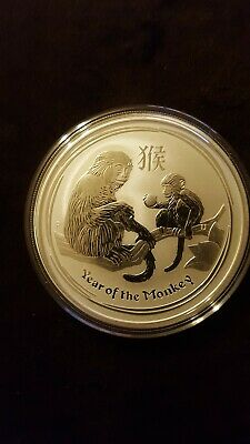 2016p year of the monkey 2oz silver lunar perth mint coin
