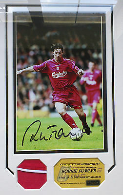 Robbie Fowler Liverpool Signed Photo Framed and mounted with COA