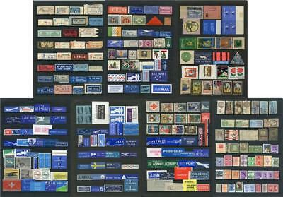 Labels, Registered, Airmail, Fiscal, Charity etc. Worldwide oddments