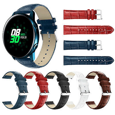 Replacement Leather Strap Wristband Band for Samsung Galaxy Watch Active 40mm