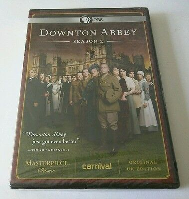 "Downton Abbey: Season 2 (DVD, 2012, 3-Disc Set) *PBS, UK EDITION*  ""NEW"""