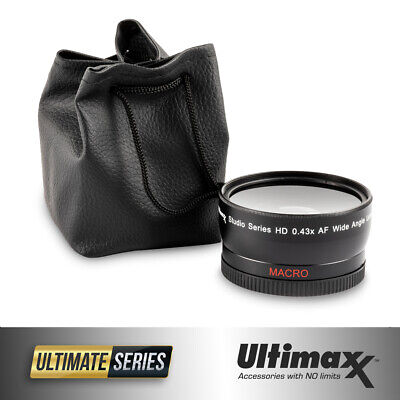 ULTIMAXX 40.5mm .43x Ultra Fast AF HD Wide Angle Lens for DSLR + Video Recording
