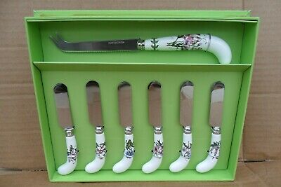 Portmeirion Botanic Garden Cheese Knife & 6 Spreaders