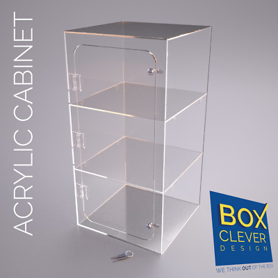 Acrylic Display Cabinets 600 x 300 x 300mm and other acrylic items.