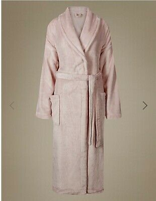 M & S Collection Soft Pink Shimmer Dressing Gown