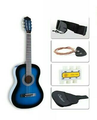 """& Acoustic Classic Guitar 3/4 Size 38"""" Beginners Student Adults 6 Strings 9:23"""