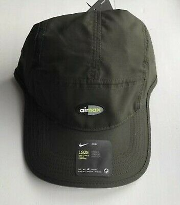 0e1e33d74 NIKE AIR MAX 5 Panel Running Cap 916350-355 hat AW84 Dri Fit UNISEX Green