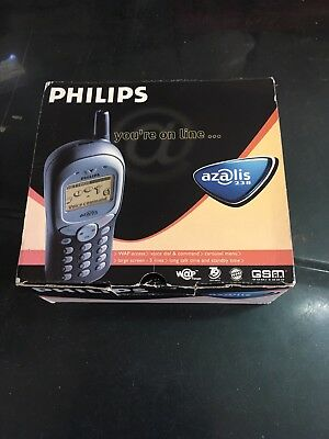 Rare Coffret Telephone GSM VINTAGE PHILIPS Azalis 238 Portable