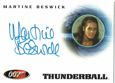The Quotable James Bond Autograph Card A31 Martine Beswick as Paula Caplan