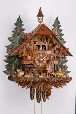 """Stunning 8 Day MASSIVE  76cm/30"""" Musical Black Forest Cuckoo Clock, NEW"""