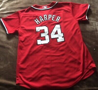 new arrival 8b5dc be0d6 BRYCE HARPER JERSEY Youth Large 14/16 Washington Nationals MLB