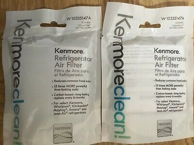 2xKENMORE REFRIGERATOR AIR FILTER W 10335147A whirlpool kitchen aid maytag amana