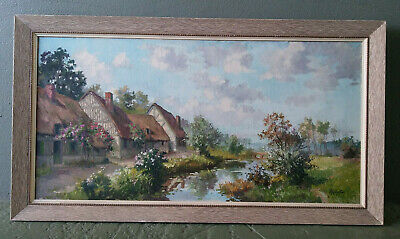 Emile Prodhon Original French Impressionist Landscape Oil Painting O/C - Listed