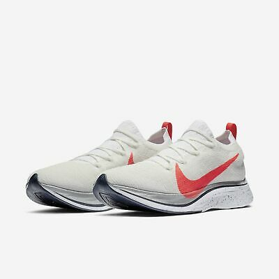 ca468994f3d2 Nike Zoom Vaporfly 4% Flyknit White Silver Mens Womens Running 2019 ORDER  NOW