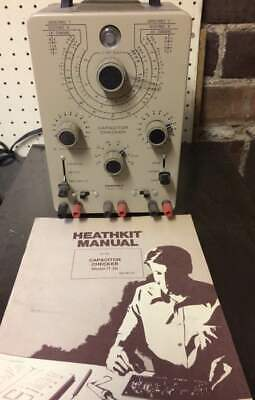 Heathkit IT-28 Capacitor Checker CLEAN CALIBRATED TESTED Manuel Vintage Rare Lot