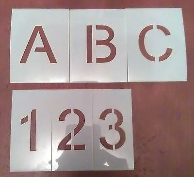6 inch Uppercase Arial Alphabet And Number Set Stencil - Letters - Parking Lot -