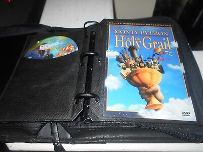 Lot of 12 Movies In Leather Zip Storage Case *See List Free Shipping