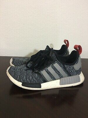 7c42916cf144a Pre-Owned Adidas Nmd R1 Glitch Camo Core Black Grey Red Men S Size 10.5